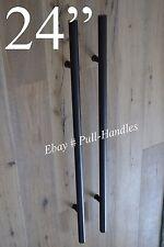 "24"" Entry Front Door Long ladder Door Pull Handle Black Stainless Steel Entry"
