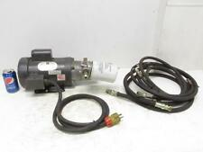 2 HP Single 1 Phase Electric Hydraulic Pump Power Unit Doerr 115/230 Volt Motor