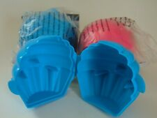 TUPPERWARE ~ CUPCAKE OR MUFFIN KEEPER ~ Lunch Storage Container ~ Pink Blue NEW