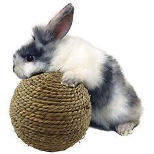 6 cm Pet Chew Jouer Jouet Herbe Ballon d'exercice pour Lapin Hamster Cobaye Rat 1pcs
