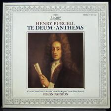 Simon Preston - Purcell Te Deum - Anthems LP Mint- 410 657-1 German Vinyl Record
