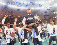 1985 Chicago Bears Team Signed SB XX Ditka Carried Off 16x20 Photo 23 Sigs - SS