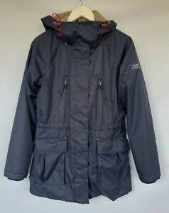 MUSTO Women's Navy Blue Waterproof Jacket Parka Size UK10 RRP£220 *PERFECT*
