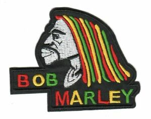 Bob Marley - Reggae Rock Music Embroidered Iron-On or Sew On Patches Applique