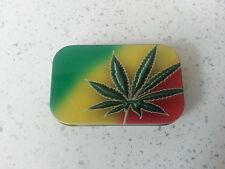 1 oz Tobacco Tin  Weed Leaf Design Rizzla Metal Gift Smoking Bargain