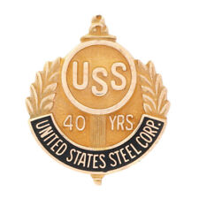 United States Steel Corp. 40 Year Company Service Lapel Pin 10k Yellow Gold USS
