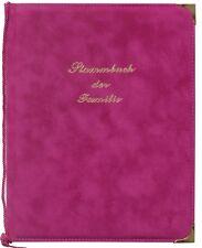 Stammbuch A5+ Velour Familienbuch Hochzeits Fuchsia 2 Folien extra