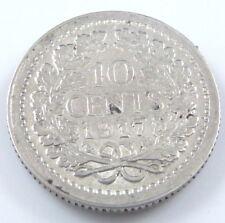 Netherlands 10 cents-Wilhelma-Prägedatum 1917 -640/Silber-1,38gr.D=15mm-