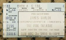 James Taylor Ticket Stub St. Louis Fox Theatre 8/3/86 That's Why I'm Here Tour