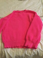 Ladies Pink Chunky Knit Jumper Size 14/16 Worn Once