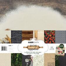 KAISERCRAFT Bon Appetit Paper Pack with Bonus Sticker Sheet PK538 Cooking