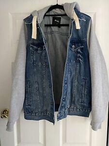 denim hoodie jacket Mens M