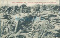 WW1 Siege Of Antwerp 1914 Belgian army battle scene ,Unposted