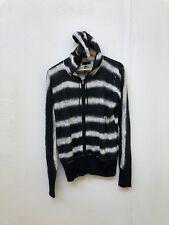 Hurley x Nike Men's Striped Zip Up Hoodie - Medium - Black/White - New