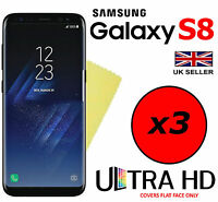3x HQ ULTRA HD CLEAR SCREEN PROTECTOR COVER FILM GUARD FOR SAMSUNG GALAXY S8