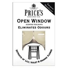 Price`s Open Window Scented Candle Tealights Eliminates Cooking Odours PK of 10