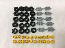 LEGO Bulk Lot of Wheels Tires Axles 50 Pieces (Axles:G_Wheels:Y)