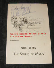 Cast Signed Playbill THE SOUND OF MUSIC South Shore Music Circus,1966/15th seasn