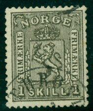 Norway #11 1sk black, used, Vf