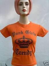 PUNK RAGAZZE TRENDY Crown Funky Rockabilly T-Shirt XS/S