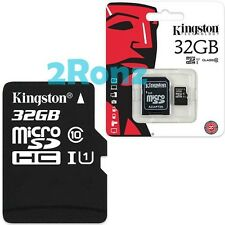 Kingston 32GB 32G Class 10 Micro SDHC SD TF Memory Card UHS-I U1 Mobile +Adapter