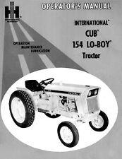 FARMALL IH CUB 154 LoBoy Lo-Boy Tractor Operator Manual 1-084-151-R1 (04/1972)