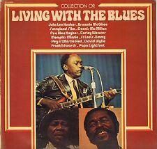 """DIVERS """"LIVING WITH THE BLUES"""" BLUES LP 1979 MUSIDISC CO 955"""