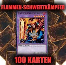 Blauer Flammen-Schwertkämpfer Krieger Zwilling Karten DEUTSCH LDK5 8 Karten #138