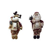 Statuine in tessuto per l'albero di Natale