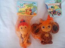 Rubber toys tweeters from Russian cartoon 38 parrots-monkey Chi-Chi and Cheburas