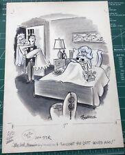 Original Gag Panel Comic Strip Art Burrows Cartoon Nude Honeymoon Humor Fling 50