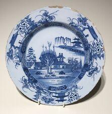 English Delft 18thC Plate Liverpool