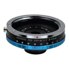 Fotodiox Objektivadapter Pro - Canon EOS EF (mit Iris) Linse für C-Mount