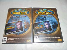 GIOCHI PC LOTTO CARD WORLD WARCRAFT  PC VINTAGE GAME