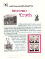 #2203 22c Sojourner Truth USPS #258 Commemorative Stamp Panel
