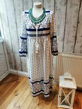 Miss Look 70s Estilo Vintage Boho Vestido midaxi M