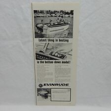 EVINRUDE OUTBOARDS VINTAGE 1963 ADVERTISING MAGAZINE 1/2 PAGE AD