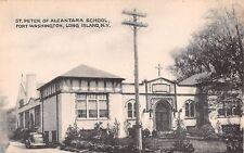 c.1940 St. Peter of Alcantara School Port Washington LI NY post card