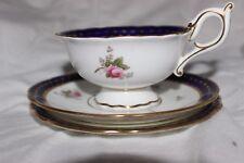 Antique Coalport AD1750 Roses Trio Cup Saucer Cake Plate