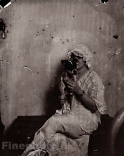 1912 E.J. Bellocq New Orleans Female Prostitute Terrier Dog Louisiana Photo Art