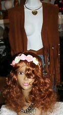 RUBIES GROOVY COSTUME VEST, BELT , PANTS AND  WIG