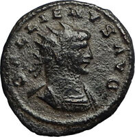 GALLIENUS Authentic Ancient 265AD Antioch Roman Coin w MERCURY MONEY GOD i67760