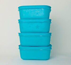 TUPPERWARE Eiskristall Gefrierbehälter 4x 450ml Blau