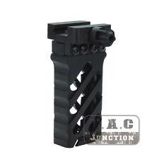 Tactical Foregrip QD Forward Vertical Grip Aluminum Ultralight Rail Grip - BK