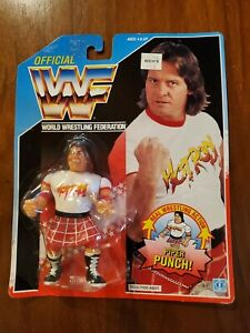 WWF Hasbro Rowdy Roddy Piper Action Figure on Card with Piper Punch!