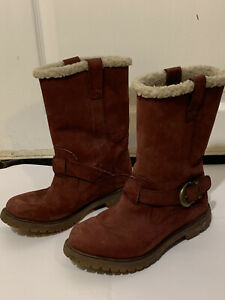 Timberland Calf Length Waterproof Suede Dusky Pink Suede Boots Size 7