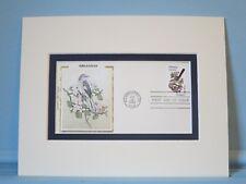 State Bird & Flower of Arkansas - Mockingbird & Apple Blossom & First Day Cover