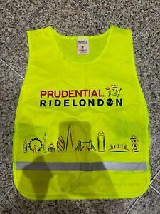 Prudential Ride London Hi Viz  Green & Yellow Tabard Bib Vest Cycling S & XS