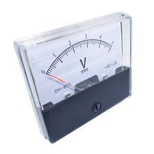 Us Stock Analog Panel Volt Voltage Meter Voltmeter Gauge Dh 670 0 5v Dc