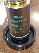 NIKON Plan Fluor 40x/0.75 Ph2 DLL Phase Contrast Eclipse Microscope Objective